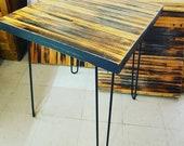 Table en bois recyclé av...