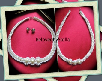 Crochet necklace PATTERN and tutorial (pdf file).