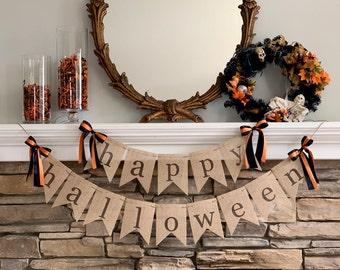 halloween decor, halloween banner, happy halloween banner, halloween signs, halloween decorations, halloween garland, halloween bunting