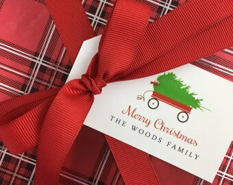 Personalized Christmas Gift Tags (Set of 10) - Custom Gift Tags, Christmas Gift Wrap, Christmas Tags, Christmas Packaging, Holiday Tags