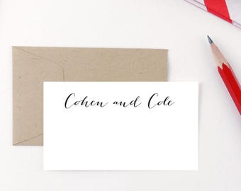 Gift Enclosure Cards / Enclosure Cards for family / Enclosure Cards for weddings / Gift Enclosures / for him / for her /  Handwritten