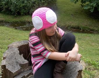 b6fae8e36c4 Nintendo Mushroom Toadette Hand Crocheted Hat
