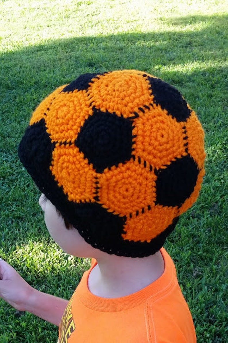 Colored Soccer Ball Crochet Hat Beanie Stocking Cap Toque  ad4fb16e430