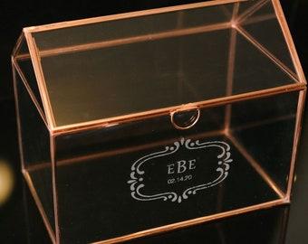 Wedding Card Holder.Wedding Card Box Glass Etsy