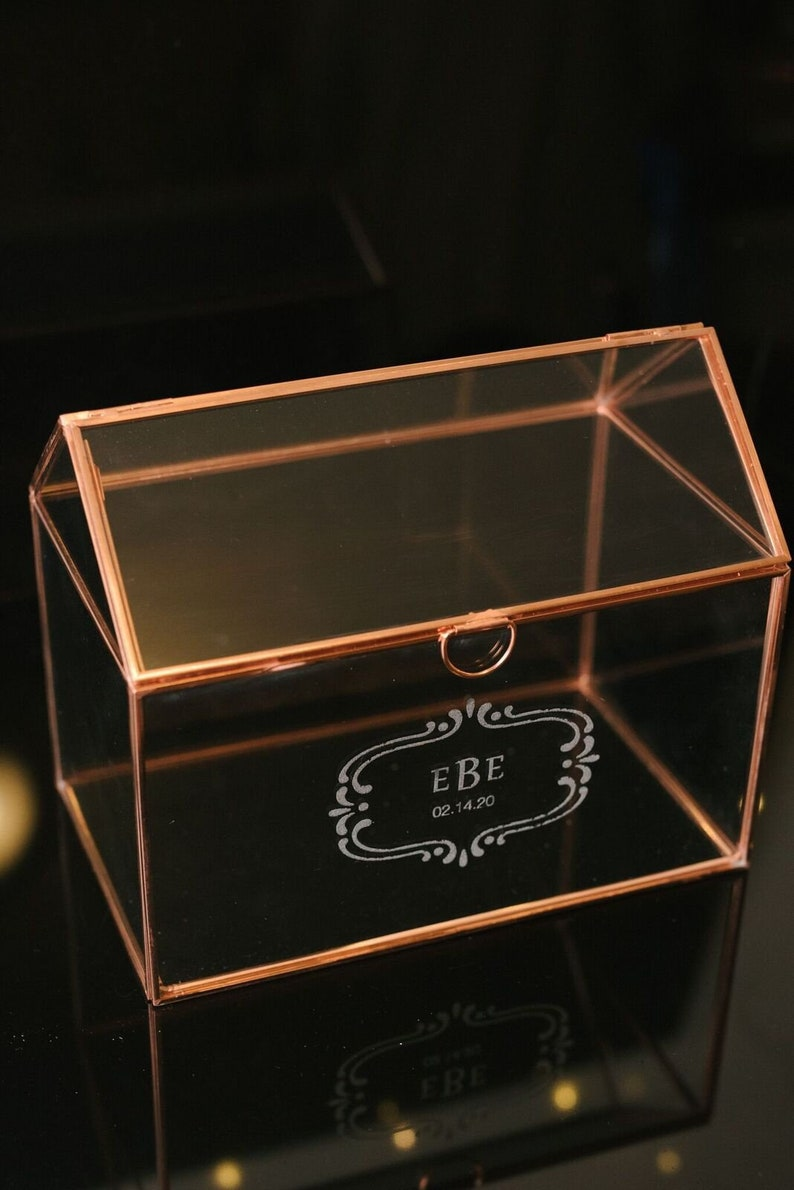 personalized glass card holder wedding card holder wedding