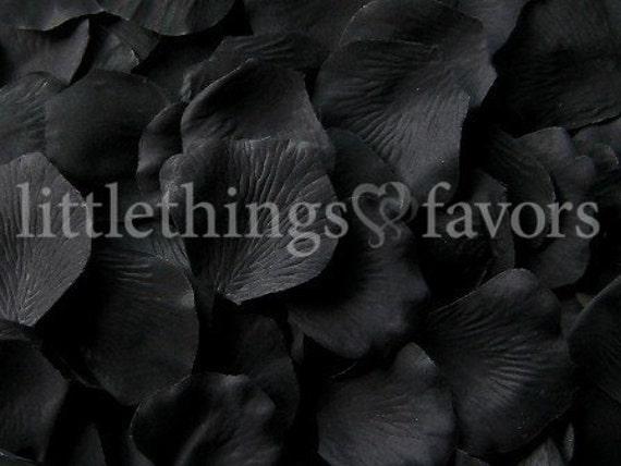flower girl petals rose petal aisle runner wedding petals toss Petals DIY CLEARANCE Black Rose Petals Black Silk Rose Petals
