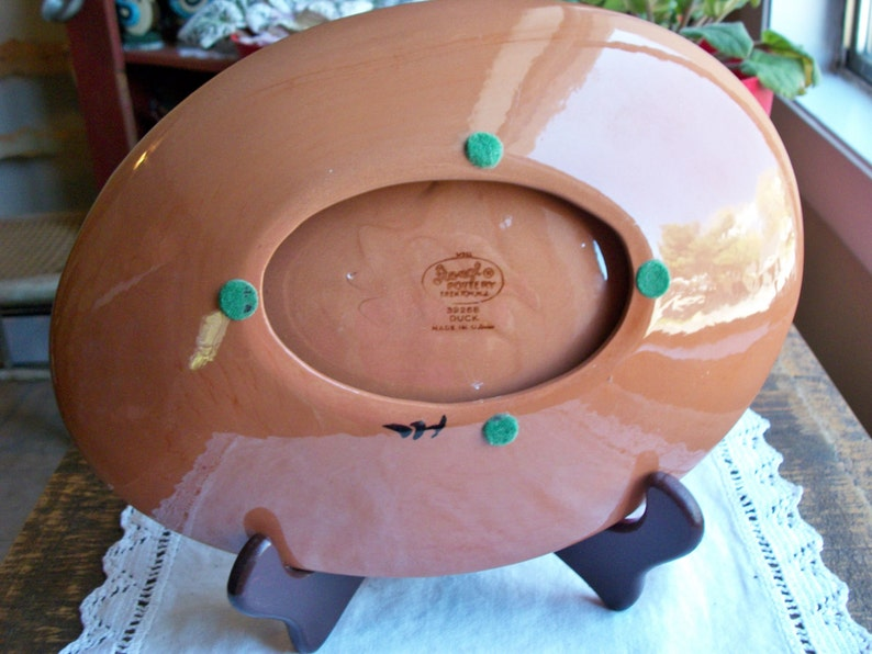 Made in USA Collectible. Vintage Pottery NJ Handcrafted Oval STANGL Pottery 3926B Handmade Mallard  Duck Ashtray Trenton