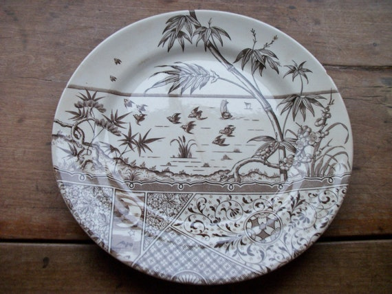 USA American Home States Maine Porcelain Plate w// Display Stand