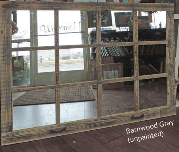 Farmhouse Large Window Pane Mirror -- 46