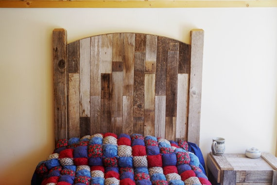 Cottage Style Rustic Headboard Twin Sized Bed, Reclaimed Barn Wood  Childrens Bedroom Furniture Sets, Color options- White, Turquoise, Pink..