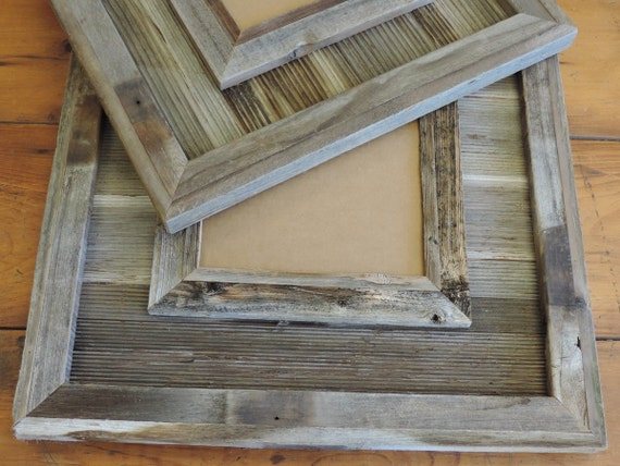 Durango Reclaimed Wood Western Picture Frame 16 X 20 Though Etsy