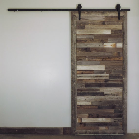 The Bretton Style Rustic Reclaimed Wood Sliding Etsy