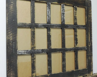 """15 opening 4 X 6 """"Barn Window"""" Collage Picture Frame"""