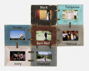 DIY 4X6 Multi Picture Frame Collage Kit for multiple pictures, Family, Grandkids, Friends, Wedding Photo Frames Set, Farmhouse Gallery Decor