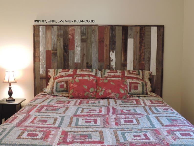 Panneau de tête de lit bois de récupération pour lit King Size | Etsy