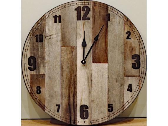 Rustic 24 farmhouse clock.