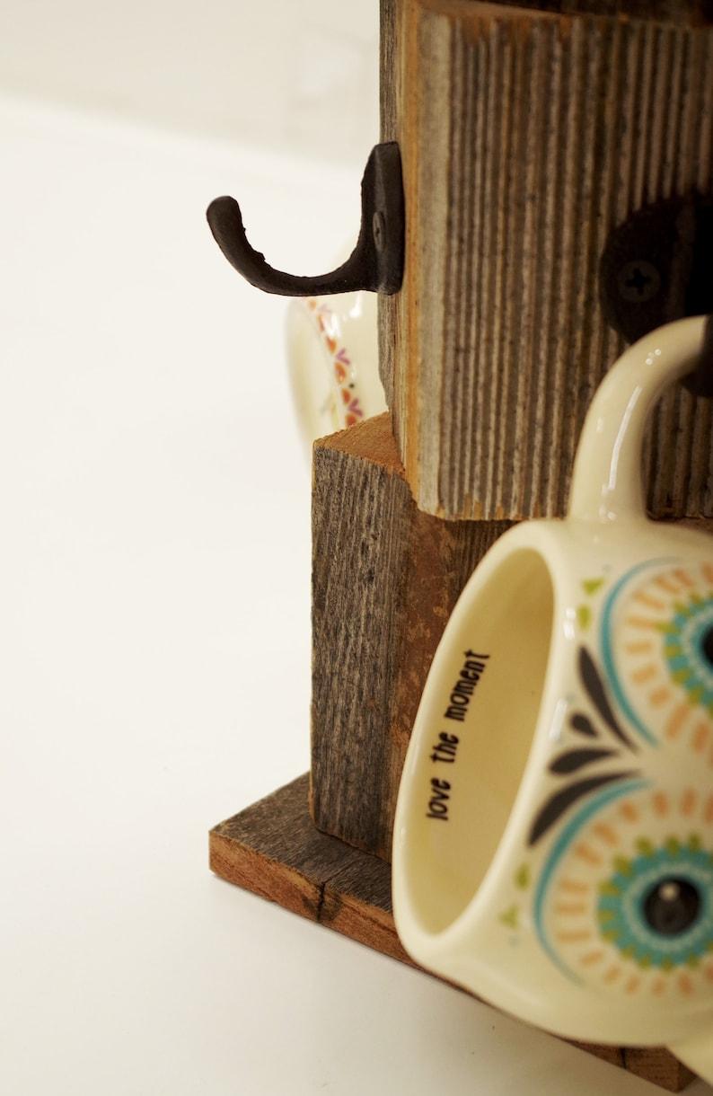 Farmhouse Coffee Mug Tree Wooden Cup Holder Kitchen Display Etsy