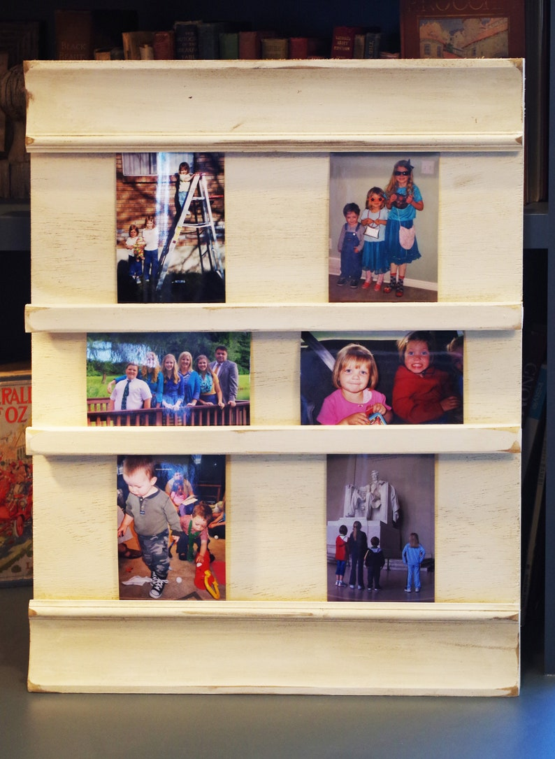 23X18 mixed 4x6 Memorial Holiday Wall Hanging Photo Post card Holder. Christmas Grandkids Country Picture Display Board Greeting