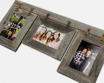 5 X 7 Custom Collage Frame.  For 2,3,4,5,6 Openings.  Your Choice of Color, Orientation, and number of frames