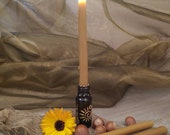 Lot of 2 beeswax candles