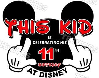 This Kid is Celebrating his Birthday at Disneyland Disney World Mickey Mouse Vacation T-Shirt