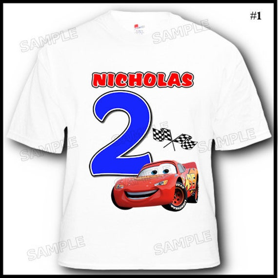 Personalized Cars Lightning McQueen Birthday Boy T Shirt 2T