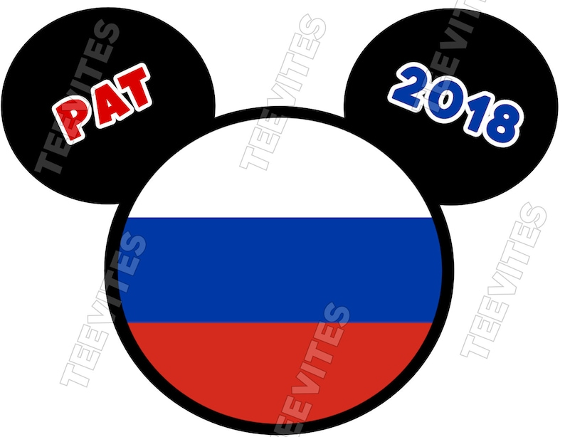 0bb6b99d Family Disney Russia Russian Flag Mickey Mouse Minnie Mouse | Etsy