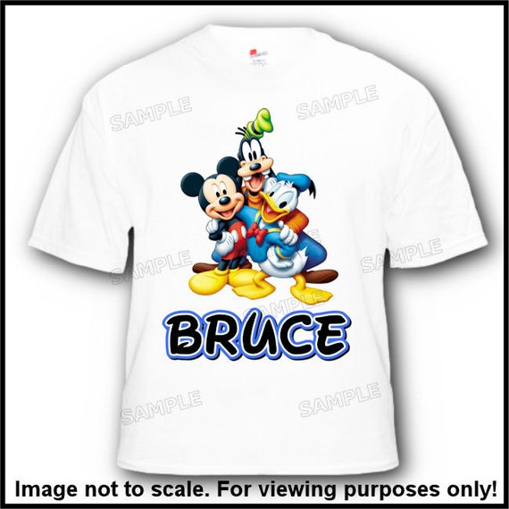 Personalized Mickey Mouse Donald Goofy Disney Vacation or Birthday T Shirt Disney Family Shirts