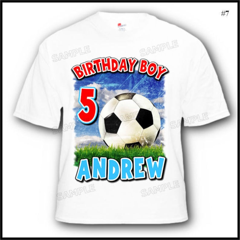Personalized Soccer Birthday Boy T Shirt 2T 3T 4T 5T Youth