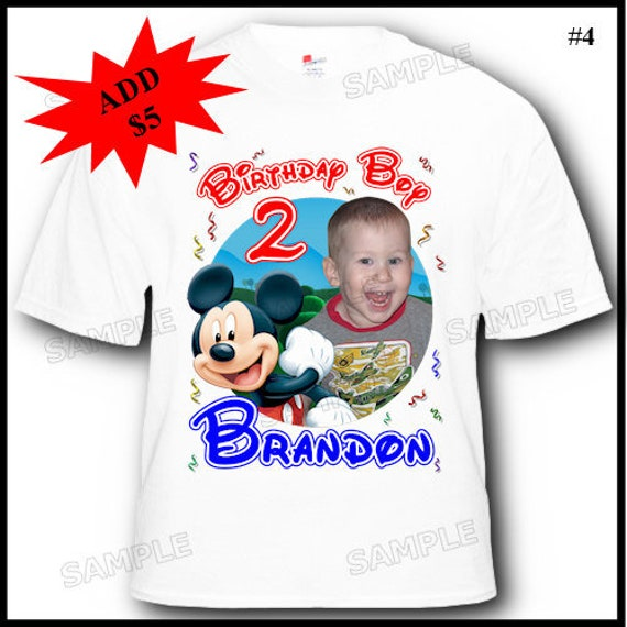 CUSTOM T SHIRTS open Source · Personalized Mickey Mouse Clubhouse Birthday  T Shirt More Etsy c6a9d9147