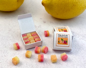 Miniature French Fruit Jellies in Hitty scale