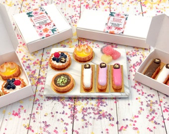 Miniature French Pastries in Hitty scale