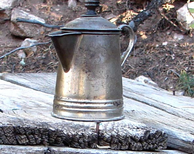 Mid-to-Late Nineteenth Century Tin Coffee Pot