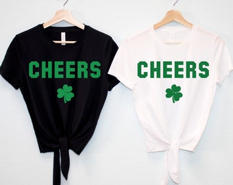 f9a7958b014589 CHEERS St Patrick s Day Shirt Crop Top Women