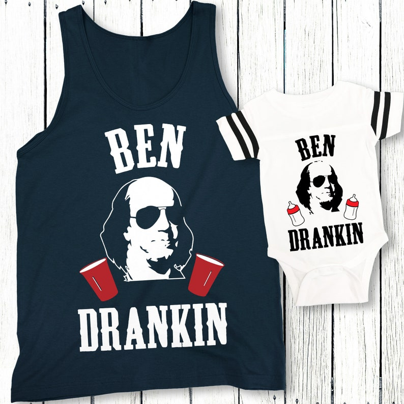 f9e0461746762d BEN DRANKIN Daddy   Me 4th of July Shirts for Dad and Baby