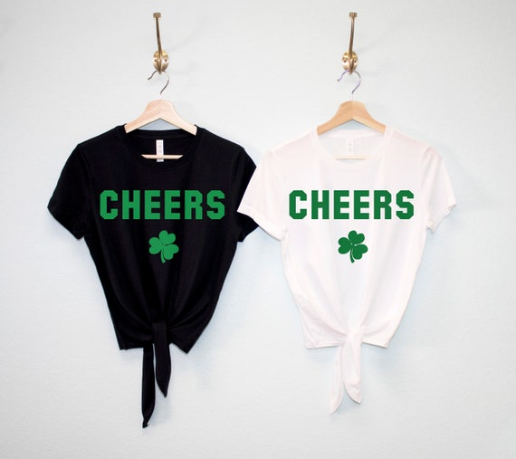cdf58308a CHEERS St Patrick's Day Shirt Crop Top Women St. | Etsy