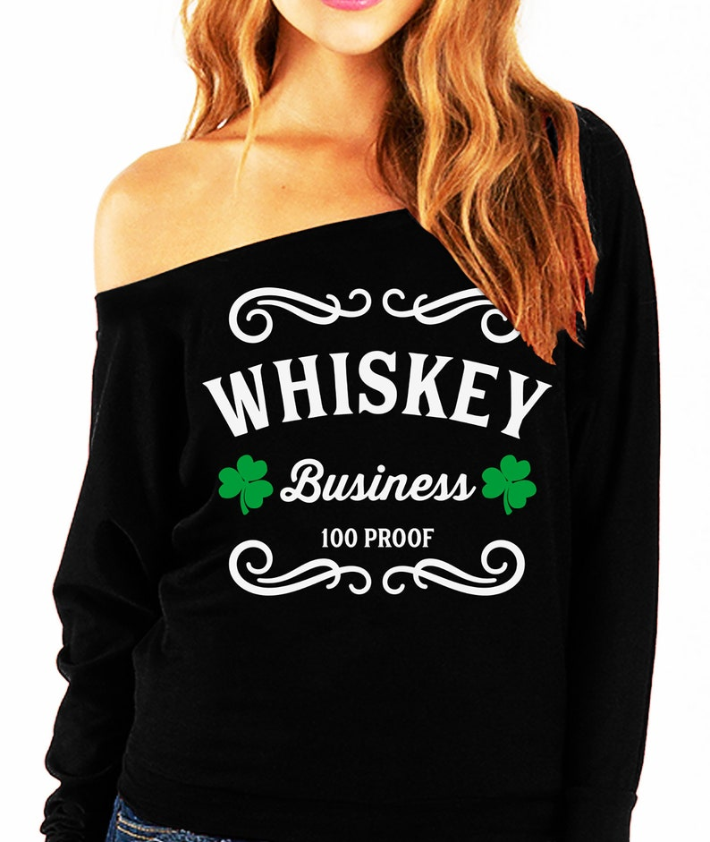 6f42e0bbc WHISKEY BUSINESS St. Patrick's Day Off-Shoulder | Etsy