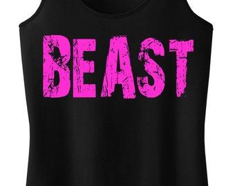 BEAST Black Workout Tank Fitted, Workout Tank Top, Fitness, Workout Clothes, Beast, Workout Shirt, Running