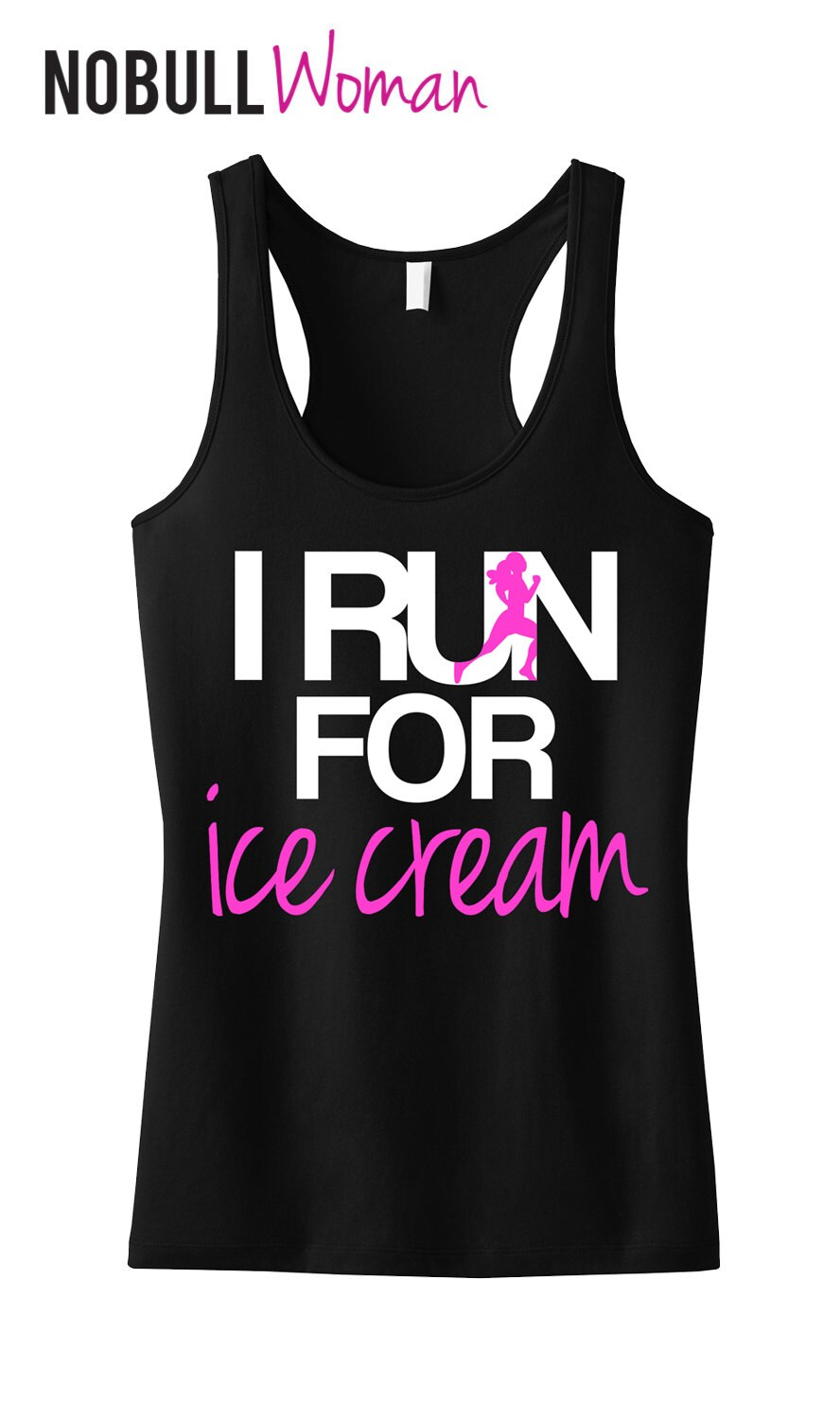 347f7f7a3ba833 I RUN for Ice Cream Tank Top Workout Clothing Workout Tanks