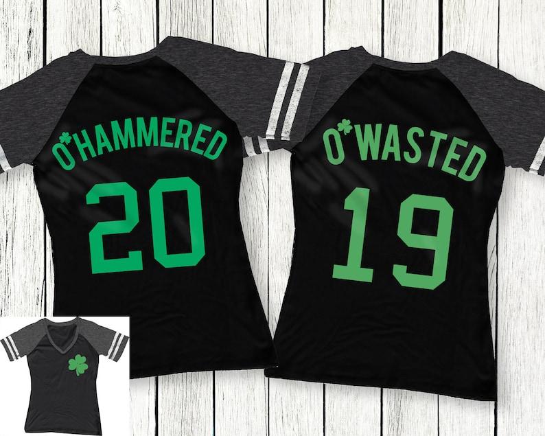 93347c5b O'Wasted St. Patrick's Day Drinking Team Shirt Black | Etsy