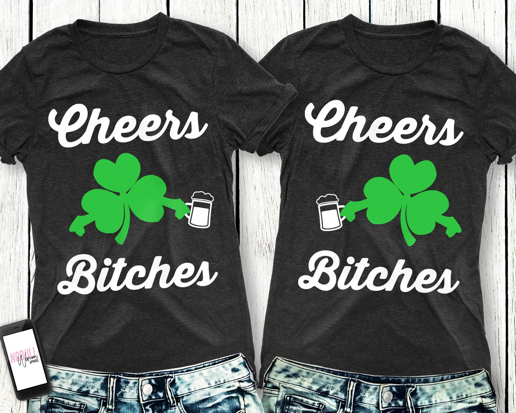a5a240547 CHEERS BITCHES St. Patrick's Day Women's Shirt Tee | Etsy