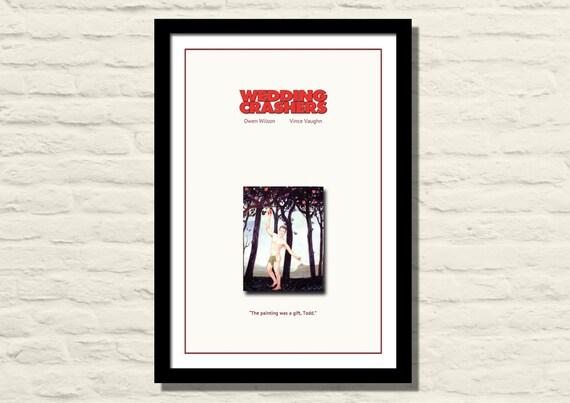 12 X 18 Wedding Crashers Minimalist Movie Poster Art Print Etsy