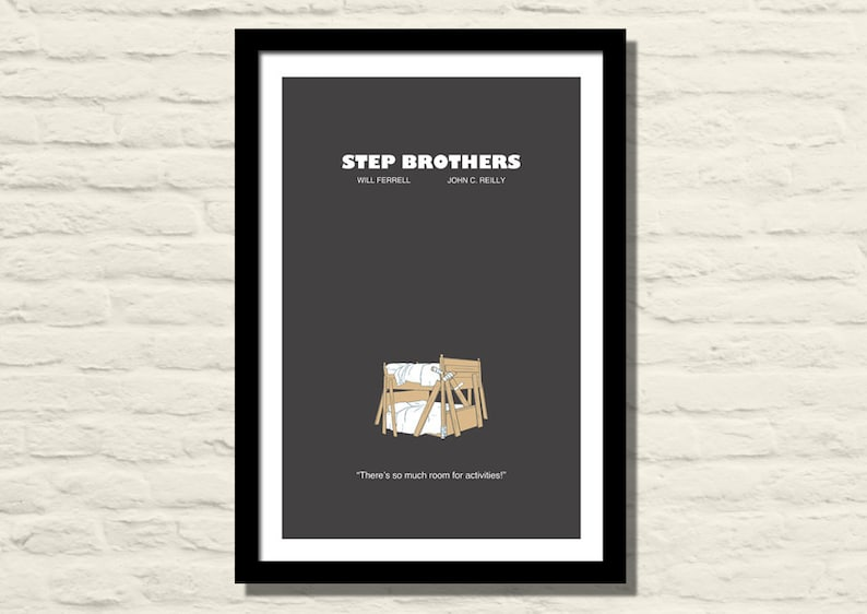 Step Brothers Movie Poster Art Print 11x17 Modern Poster Etsy