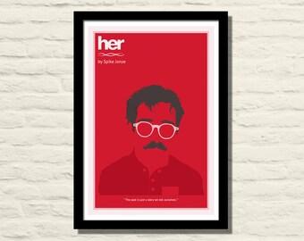 Her Movie Poster, Art Print, 11 X 17, Minimalist Poster, Home Decor