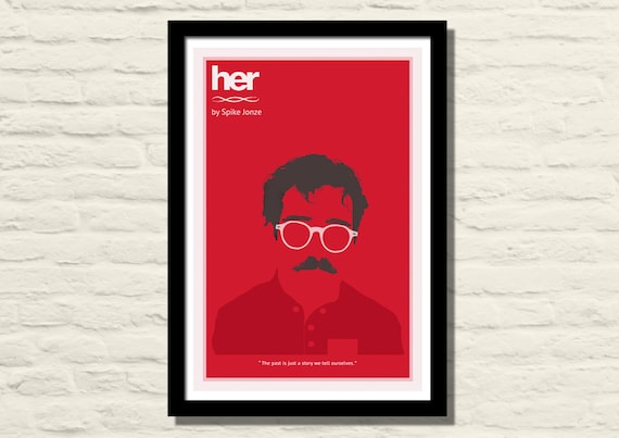 Her Movie Poster Art Print 11 X 17 Minimalist Poster Home Etsy