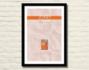 Juno Minimalist Movie Poster, Art Print, 11 X 17, Minimalist Movie Poster, Home Decor