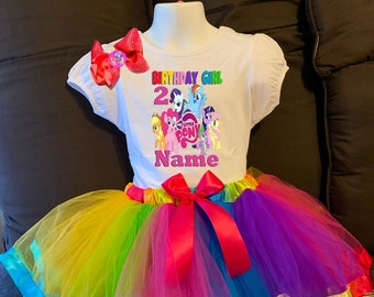 6th sixth Birthday Dress shirt 2pc Pink Tutu outfit -With NAME- Princess Crown