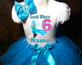 +NAME+ 1st First 1 Birthday Shirt Personalized  2 Pc Tutu Outfit Purple Fast Shipping Bubble Guppies Dress