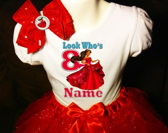 Elena of Avalor 1st first 1 Birthday ***With NAME*** Tutu Dress Red