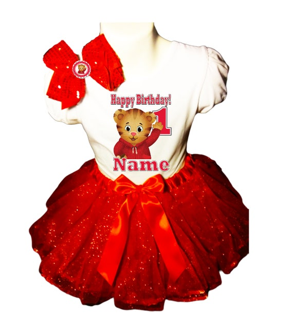 Trolls Poppy 1st first 1 Birthday ***With NAME*** Red Tutu Dress  Fast Shipping